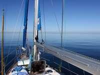 Yacht on the calm sea