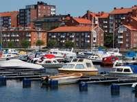 Mooring piers in Karlskrona (Sweden)