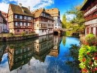 Half-timbered tenement houses in Petite France quarter of Strasbourg (France)