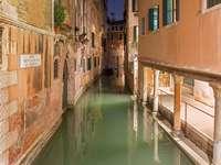Kanal Rio de la Verona i Venedig (Italien)