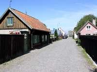Holzzäune in Visby (Schweden)