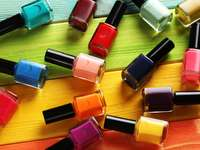 Colorful nail varnishes