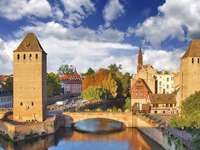 Canals in Strasbourg (France)