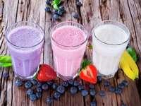 Frukt- och mjölkkocktailar