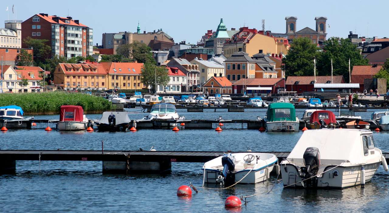 Karlskrona Harbor (Sweden) - Karlskrona is a Swedish town located on dozens of rocky islets. It had been founded in 1680 and for years it was the seat of the Royal Fleet. Today, the town is popular with tourists and water sport e (11×6)