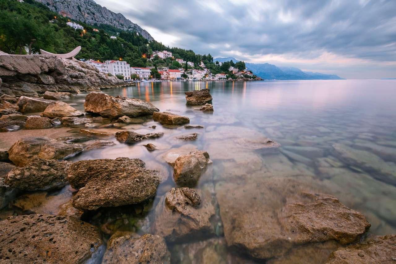 Rocky coast of Omiš (Croatia)