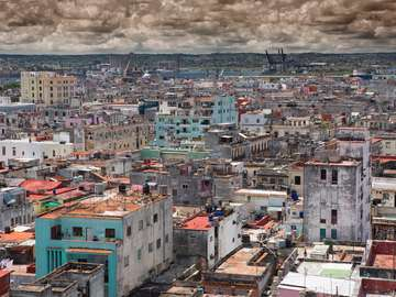 A poor district of Havana (Cuba)