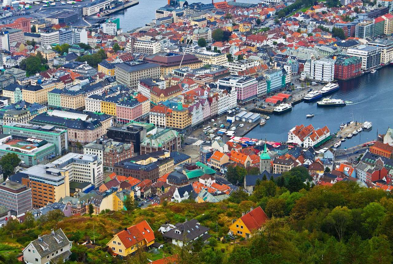 Panorama of Bergen (Norway)