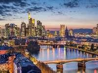 Panorama of Frankfurt am Main (Germany)