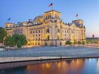 Reichstag building in Berlin (Germany)