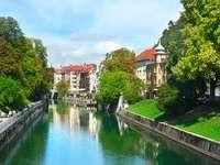 The river Ljubljanica in Ljubljana (Slovenia)