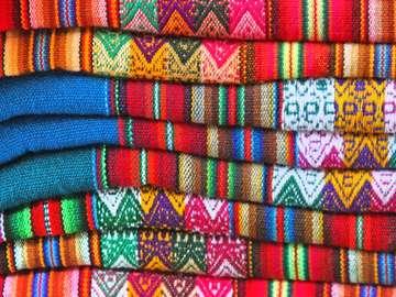 Fabrics at the market (Peru)