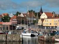 Yacht marina in Svaneke (Denmark)