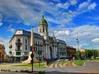 Catedral católica en la ciudad de Arad (Rumanía)