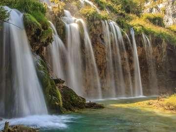 Waterfalls in Plitvice Lakes National Park (Croatia)