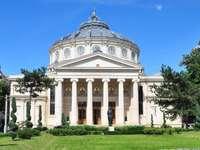 Romanian Athenaeum in Bucharest (Romania)