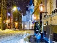 L'hiver dans les rues de Riga (Lettonie)