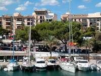 Yachts in Porto Cristo (Spain)