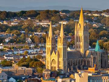Neo-Gothic cathedral in Truro (United Kingdom)