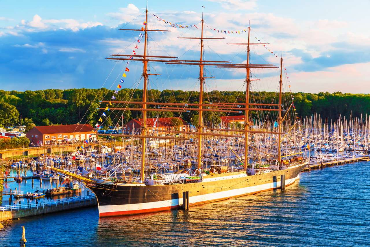 Passat in Travemünde (Germany) - Passat is a 4-mast sailing ship, launched in 1911 in Hamburg. F. Laeisz Shipping Company was its first owner. Since 1959 it has been moored in the Bay of Lübeck, in the district of Travemünde, where (12×8)