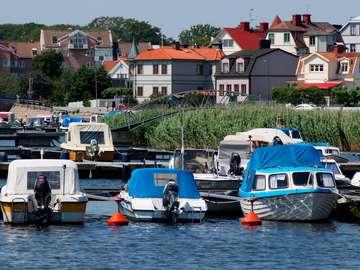 Boats in Karlskrona (Sweden)