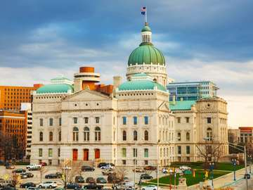 Capitol Building in Indianapolis (USA)