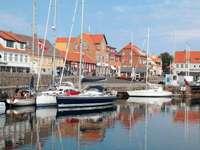 Yacht harbor in Tejn (Denmark)
