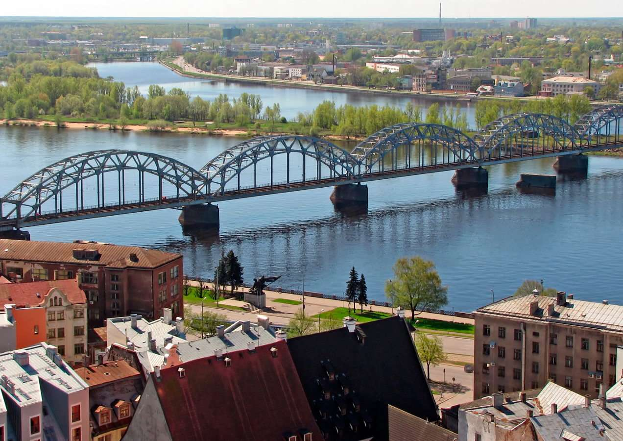 Railway Bridge in Riga (Latvia)