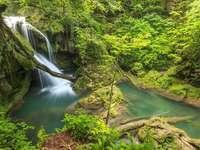 Waterfall in the Aninei Mountains (Romania)