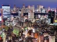 Panorama of Shinjuku at night (Japan)