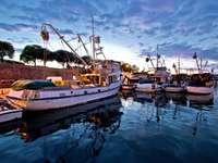 Fishing boats in Zadar (Croatia)