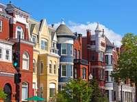 Antiguas casas de vecindad en Washington, DC (EE. UU.)