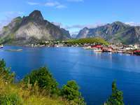 Fjord on the Lofoten Islands (Norway)