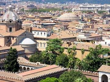Panorama of Rome (Italy)