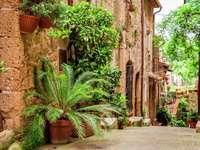 Ulice v toskánském městě (Itálie) online puzzle