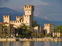 Scaliger Castle in Sirmione (Italy)