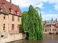 Canal in Bruges (Belgium)