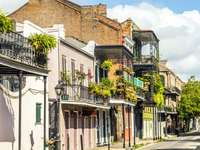 French street in New Orleans (USA)
