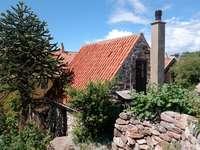 Stone house on Christiansø (Denmark)