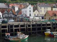 Fishing boats in Scarborough (United Kingdom)