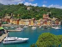 Bird's eye view of Portofino (Italy)