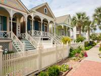 Victorian houses in Galveston (USA)