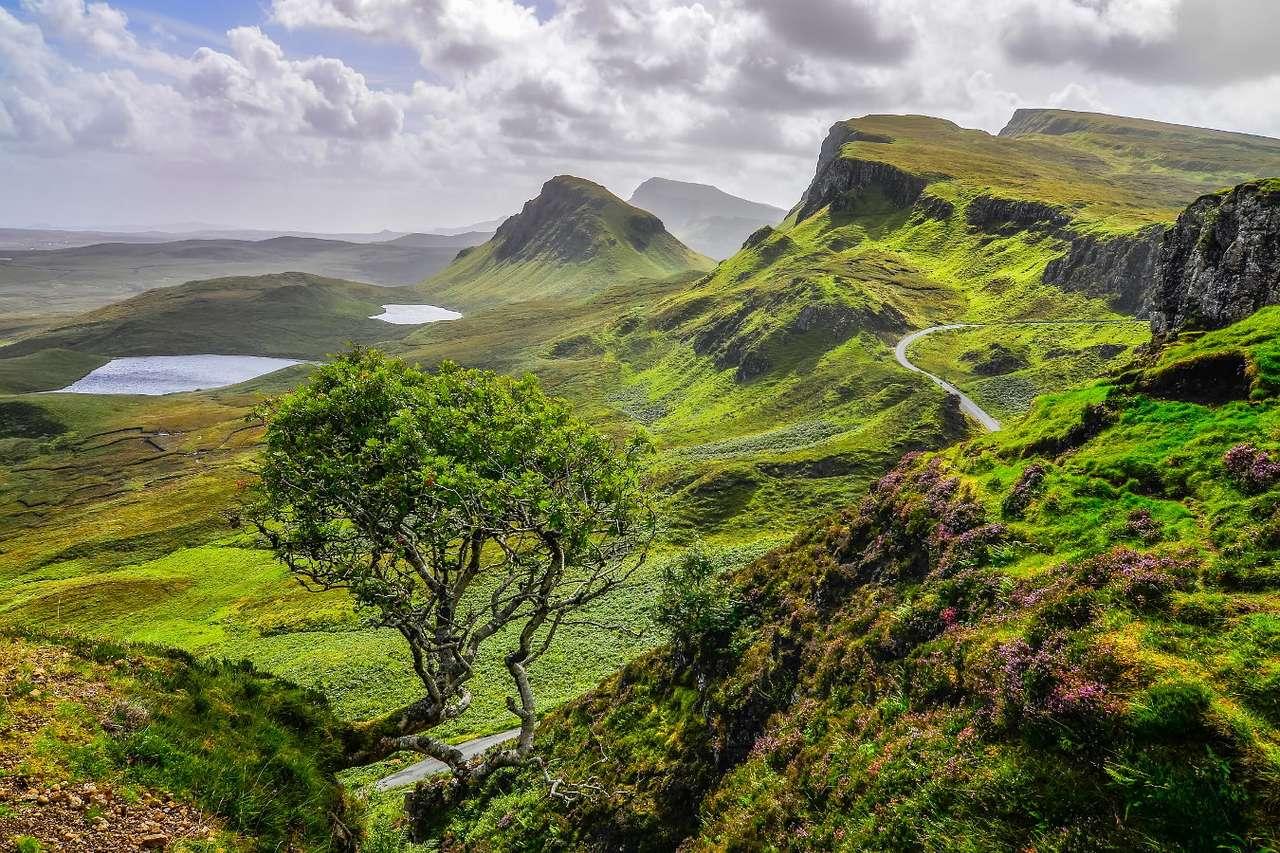 Quiraing Hill on the Isle of Skye (United Kingdom)