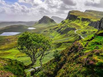 Quiraing Hill on the Isle of Skye (United Kingdom)