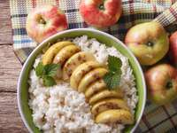 Rice with caramelized apple