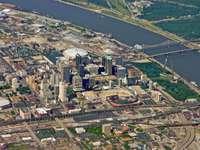 Bird's eye view of Saint Louis (USA)