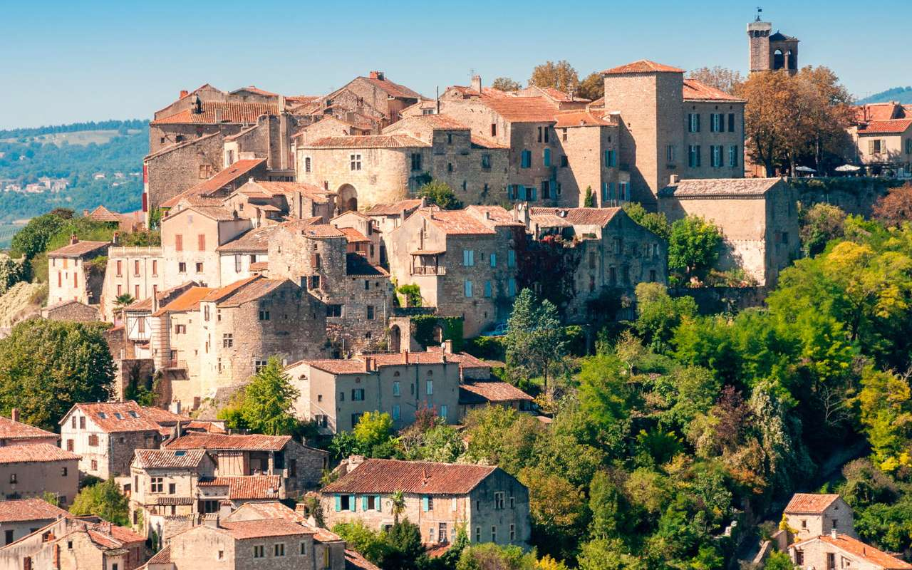 Town of Cordes-sur-Ciel (France) - The town of Cordes-sur-Ciel is located in the French region of Midi-Pyrénées in the south of the country. The settlement in this place was founded by the Count of Toulouse, Raimon VII in 1222. The n (12×6)