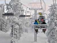 Ανελκυστήρας καρέκλας στη Ruka (Φινλανδία)