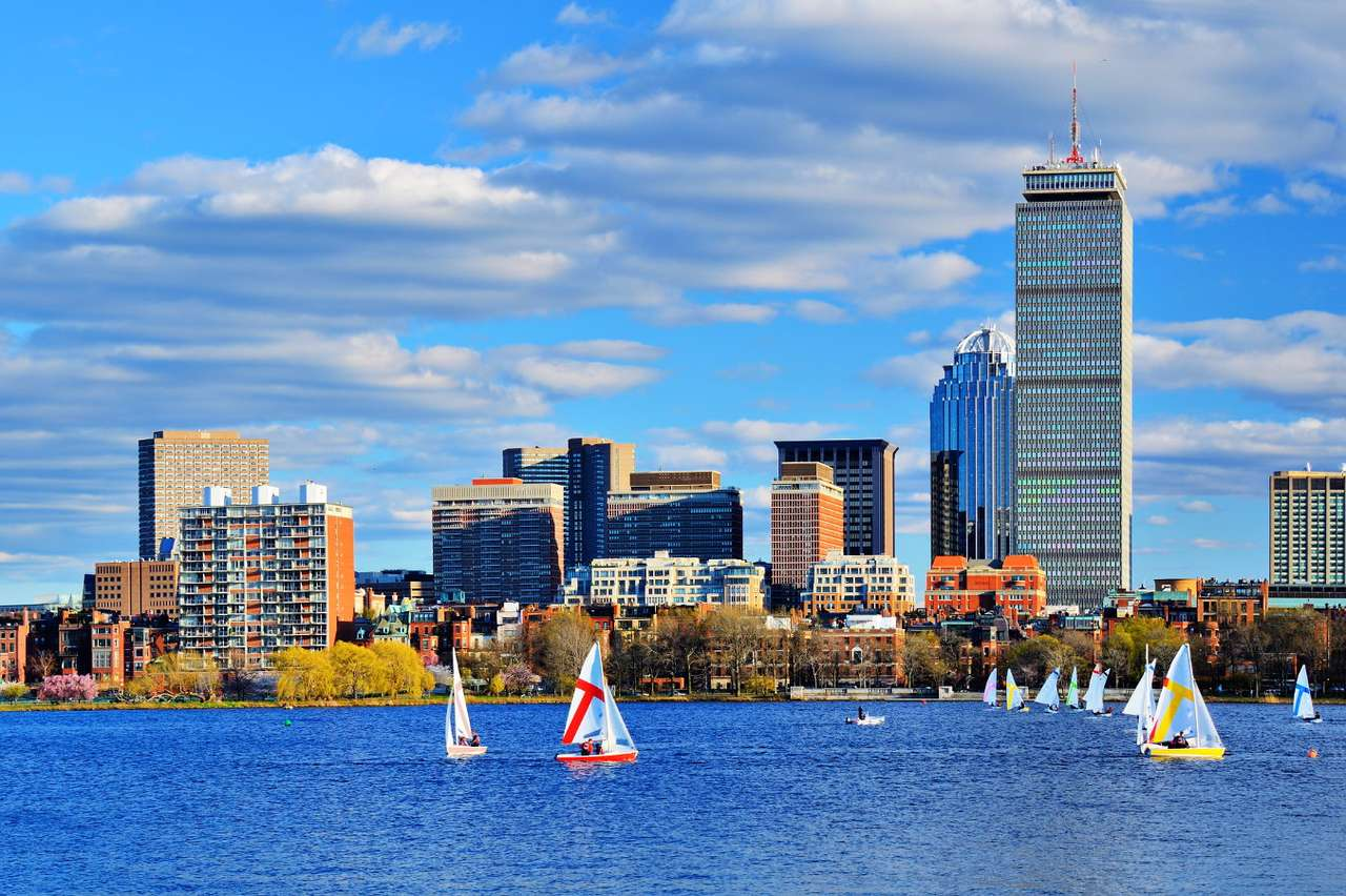 Panorama of Boston (USA) - Boston is a large city located on the East Coast of the United States and the capital of Massachusetts. The settlement was founded as early as in the first half of the 17th century and its inhabitants (8×6)