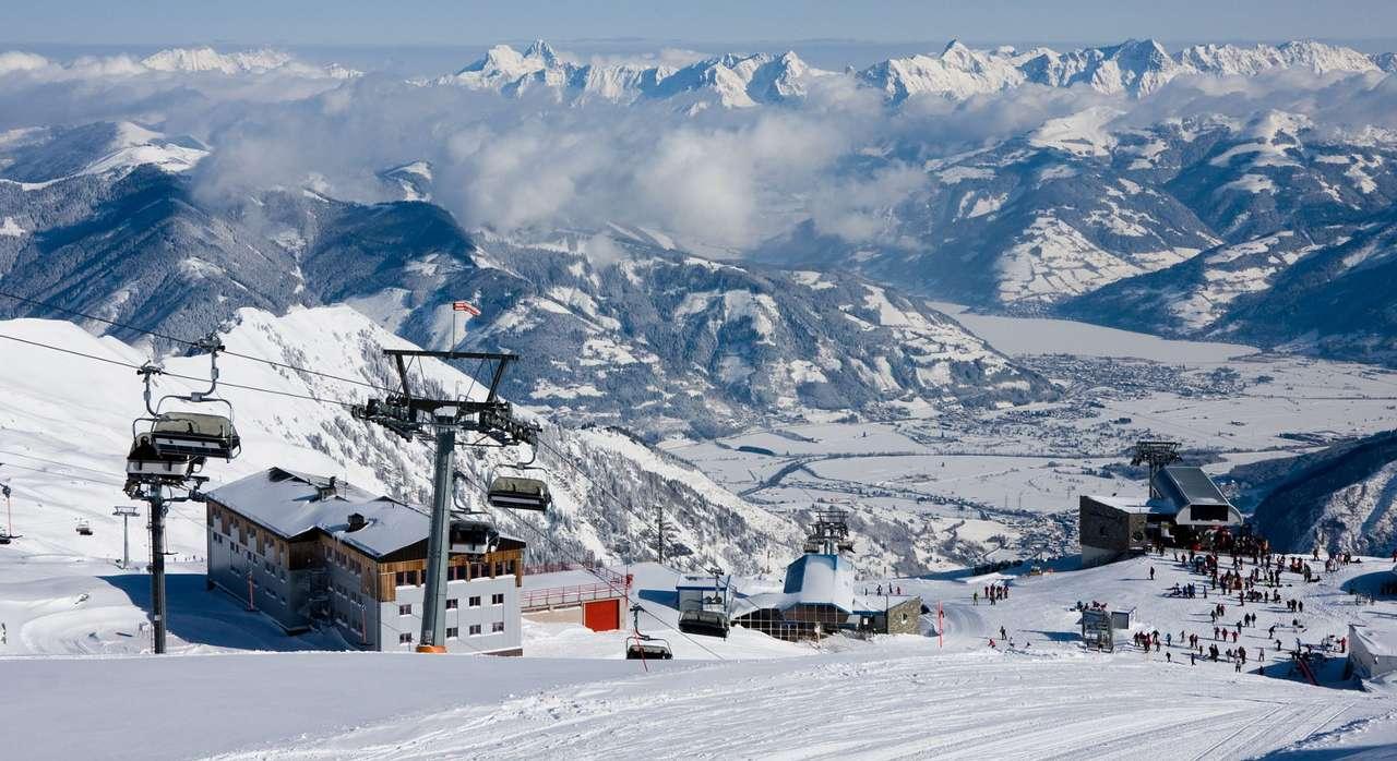 Ski lift at Kaprun winter resort (Austria)